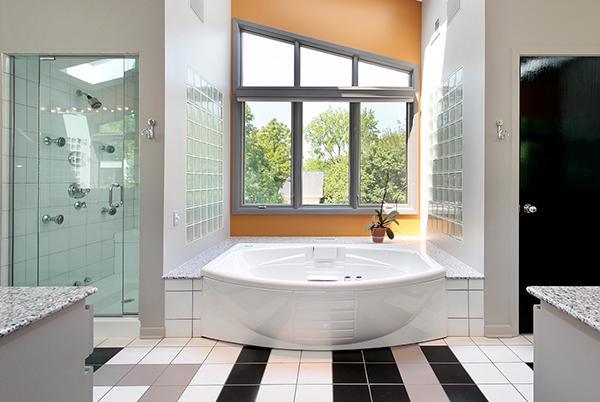 Modern upscale master bath
